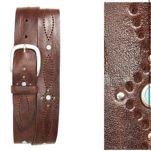 Orciani women's leather belt size 85